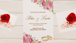 How To Design A WEDDING INVITATION CARD - Photoshop Tutorial Simplified