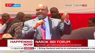 Letangule decries effects of 'Mathenge' tree on livestock of Ichamus people during Narok BBI Forum