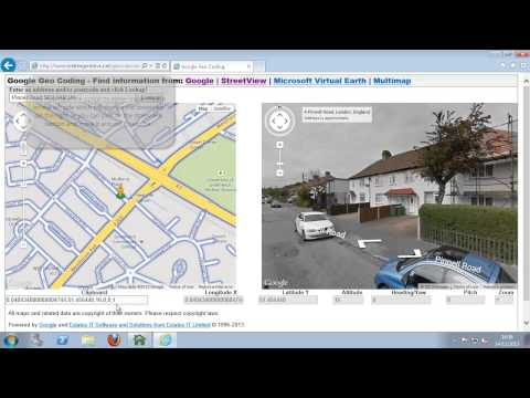 How to setup streetview on website