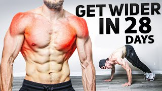 How to Get WIDER in 28 Days | 10 Min Shoulders and Back Workout