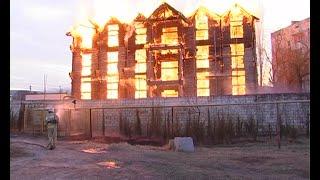 Крупный пожар в Феодосии