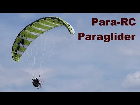 Para-RC RC paramotor, scale electric powered paraglider