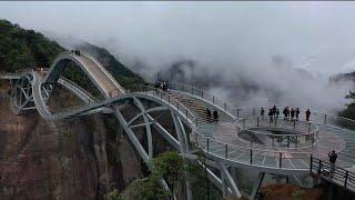 The Ruyi bridge A double decker glass bridge in China
