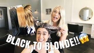 KIM K TRANSFORMATION   black to blonde in one day!