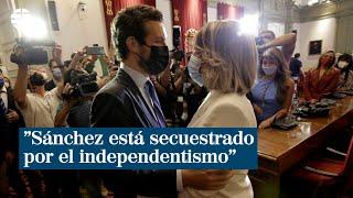 """Pablo Casado: """"Sánchez está secuestrado por el independentismo"""""""