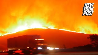 Frightening footage shows evacuees fleeing deadliest wildfire in California history