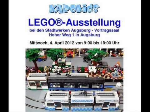 LEGO MOC-Modelle im Schaufenster der Stadtwerke Augsburg