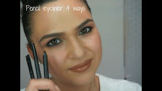 HOW TO: Pencil Eyeliner 4 Ways
