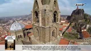 preview picture of video 'Drone : des images exceptionnelles de la cathédrale du Puy'