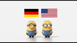 German cars vs American cars Minions Style