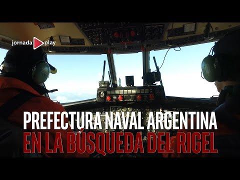 Prefectura Naval Argentina en la búsqueda del Rigel