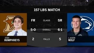 157 LBS: #1 Jason Nolf (Penn State) vs. Josh Humphreys (Lehigh)   Big Ten Wrestling
