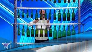 Puede INTERPRETAR MÚSICA CLÁSICA solo con unas BOTELLAS   Audiciones 5   Got Talent España 5 (2019)