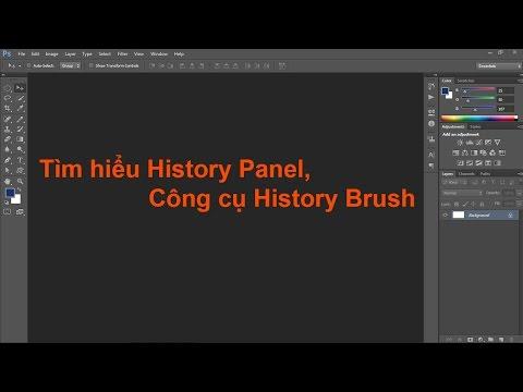 Photoshop cs6: cách sử dụng history panel history brush