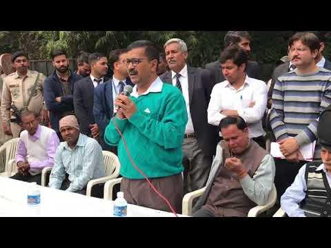 CM Arvind Kejriwal visits his New Delhi Constituency Addresses People