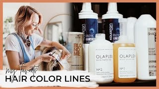 My favorite hair color lines and why I use SO many different brands! Permanent, Demi, Direct Dyes!