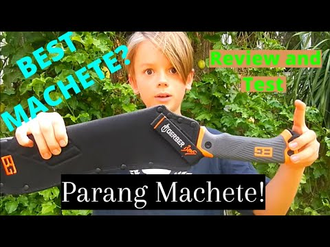 Gerber Bear Grylls parang machete review and test