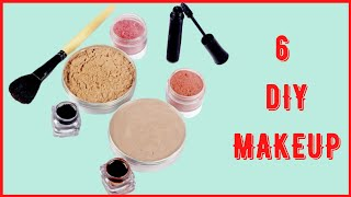 6 Natural Homemade MAKEUP PRODUCTS | Easy MAKEUP Recipe Ideas For DIY Cosmetics (Makeup Hacks)