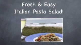Italian Pasta Salad Recipe. Simple  Fast & Fresh!