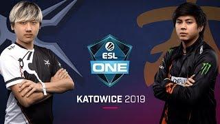 Dota 2 - Mineski vs. Fnatic - Game 1 -  LB Ro4b #2 - ESL One Katowice 2019