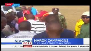 President Uhuru Kenyatta and DP William Ruto vow to defeat NASA in the next polls-Narok