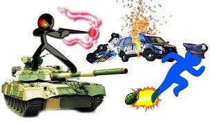 Мультик герой СТИКМЕН в ГТА веселое видео для детей про машинки танки в ГТА игра Stickman Rope Hero