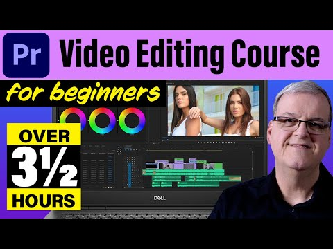 3 1/2 hour beginner video editing course