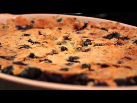 Relax with Random Food Scene – Deflating Blueberry Clafouti