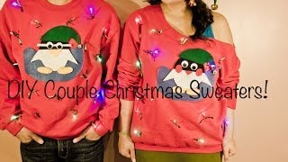 DIY Couple Christmas Sweaters