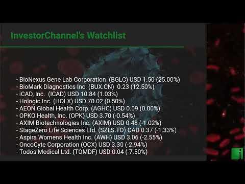 InvestorChannel's Cancer Diagnostics Watchlist Update for Monday, October, 18, 2021, 16:00 EST