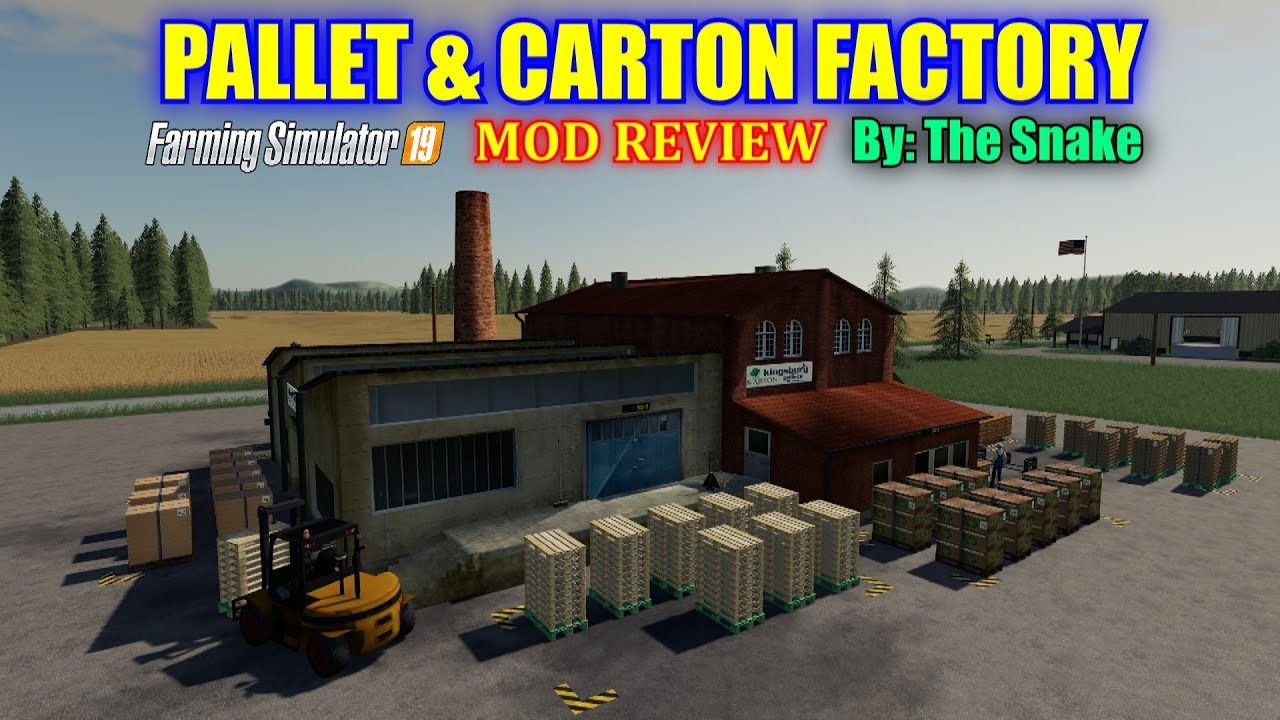 Pallet & Carton Factory Placeable Farming Simulator 19 Mod Review