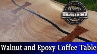 Black Walnut  Black Epoxy  Coffee Table  How To