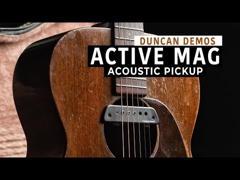 The versatile Active Mag Acoustic Guitar Pickup | Duncan Demos