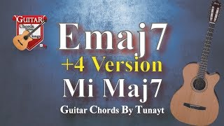 ★ E Maj 7 ★ How To Play E Maj7 Chord On Guitar | Mi Maj 7 Akoru Gitarda Nasıl Basılır ?