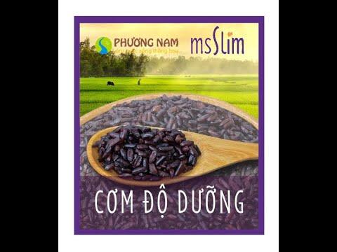 Cơm độ dưỡng - Cơm gạo tím Ms Slim - Cơm giảm cân | Gạo Phương Nam