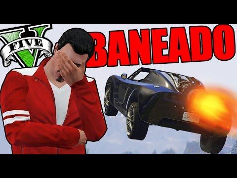 GTA V Online - BANEADO!! Y EL COCHE COHETE!!- NexxuzHD