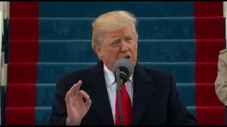 Первая речь Дональда Трампа как действующего 45го президента США. Инаугурационная речь