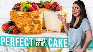 How To Make Perfect Angel Food Cake | The Stay At Home Chef