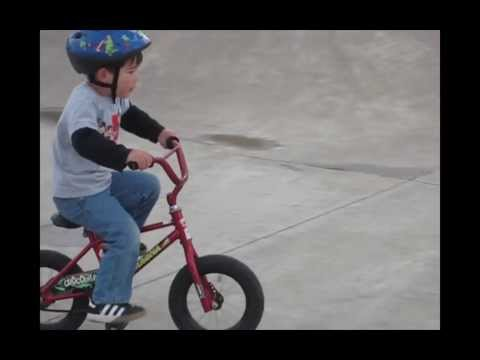 3-year-old Hudson Rogue BMX's Reedville Creek Skate Park, Hillsboro Oregon