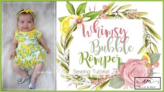 EASY Romper Sewing Tutorial For Babies