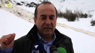 preview picture of video 'La baixada controlada de l'allau de les Fonts d'Arinsal tranquil·litza Protecció Civil i els veïns'