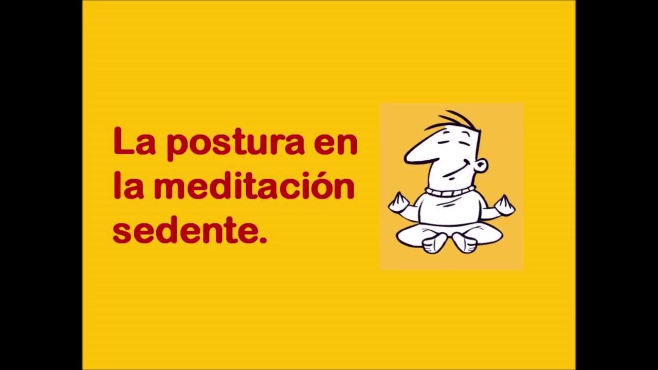 La postura en la meditación sedente