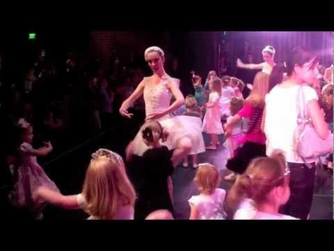 BYU Theatre Ballet - kids dance on stage with ballerinas
