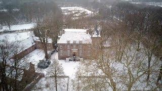 Kasteel en landgoed Nemerlaer in de sneeuw