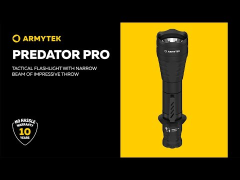 Armytek Predator Pro — long-throw tactical flashlight with magnetic charger