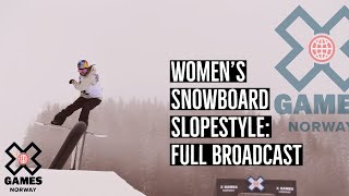 Women's Snowboard Slopestyle: FULL BROADCAST | X Games Norway 2020