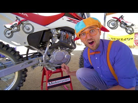 Blippi Rides a Motorcycle | Dirt Bikes for Children