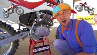 Blippi Rides a Motorcycle | Dirt Bikes for Children