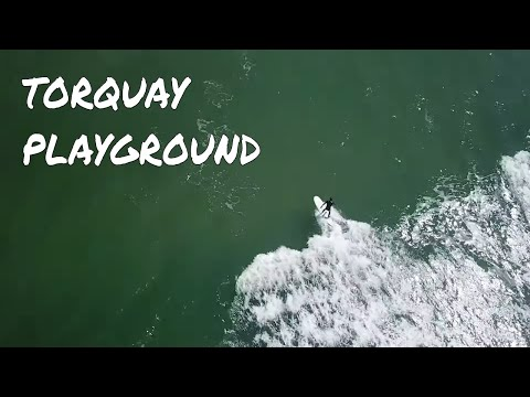 Torquay surfing and droning