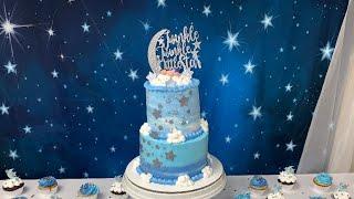 Twinkle Twinkle Little Star Baby Shower Cake | Pastel De Baby Shower